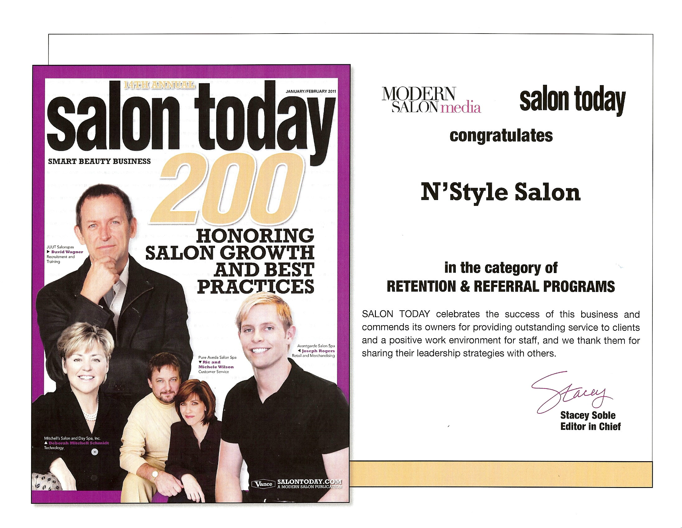 Salon Today Top 200 Salons Retention & Referral Programs