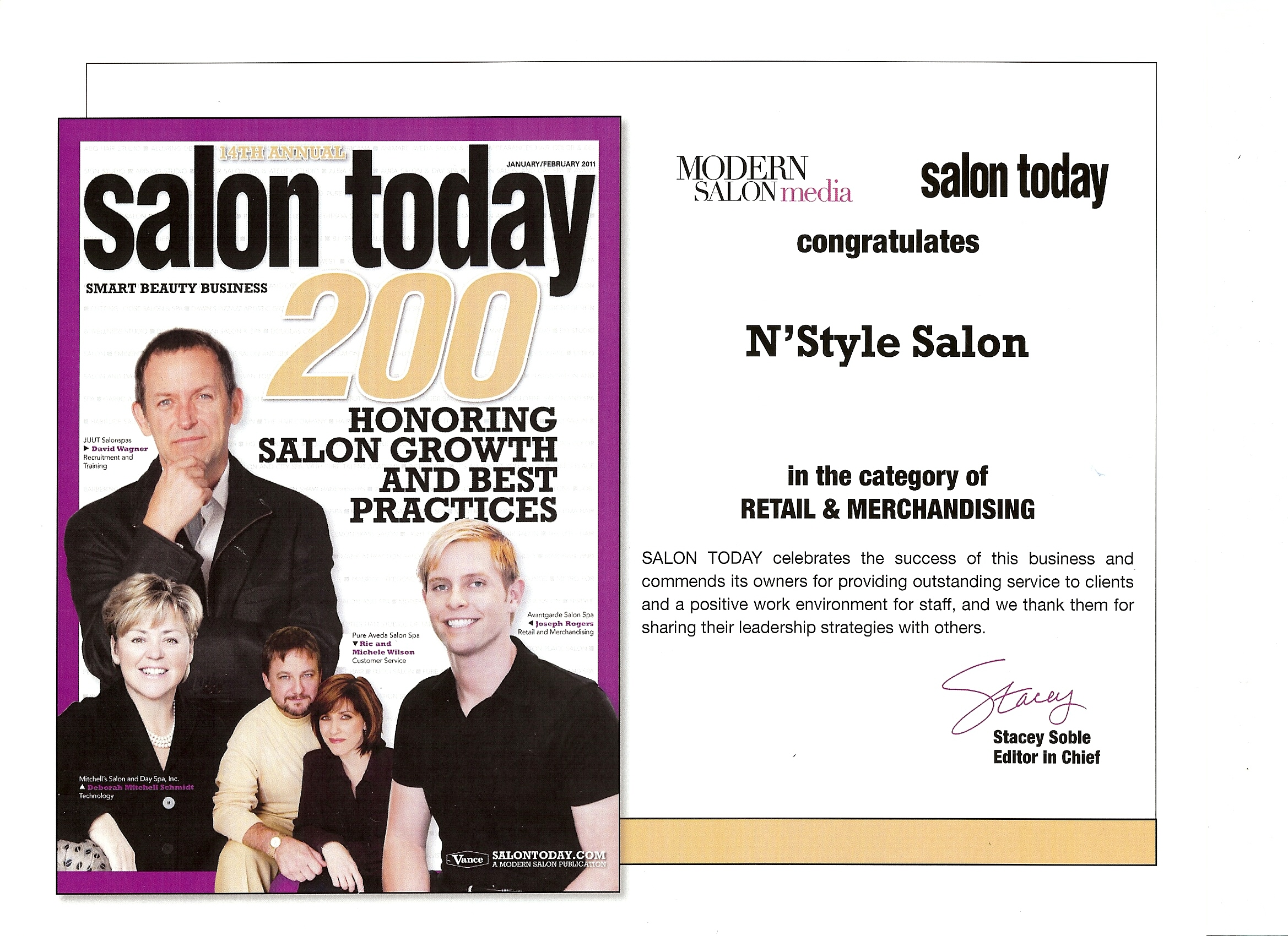 Salon Today Top 200 Salons Retail & Merchandising