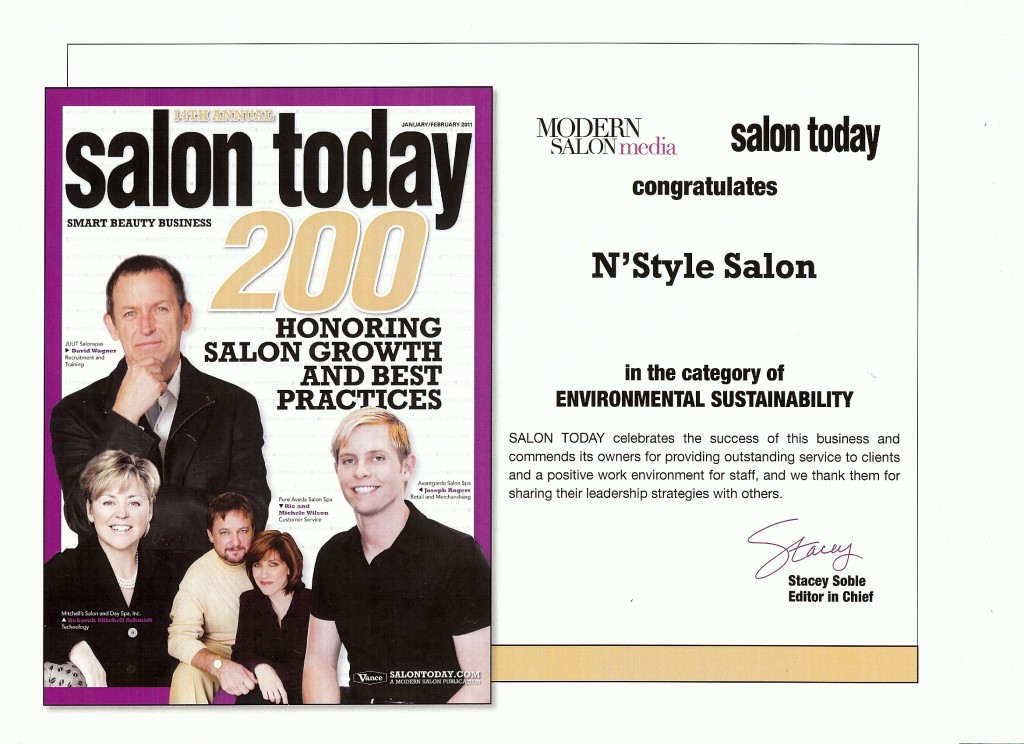Salon Today Top 200 Salons Environmental Sustainability